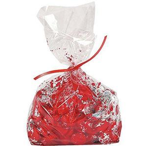 Elfen und Zwerge 12 x blutige Zellophan Tüte Zellophanbeutel Blut Halloween Geschenktüten Mitgebsel blutig