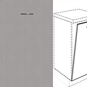 Premium-Ambiente AMEIV0212 Unterschrank Front für Geschirrspüler FE (Breite 60cm-vollintegriert, 05 Aluminium)