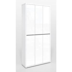 Mehrzweckhochschrank SPRING Lack Weiß Hochglanz ca. 102 x 212 x 34 cm