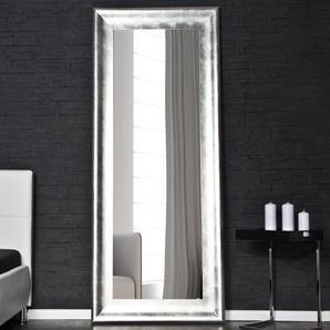 Design Standspiegel BRILLADO 180x80cm silber Holzrahmen Wandspiegel