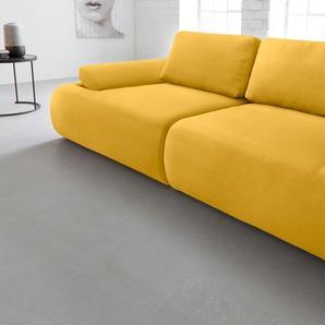 Inosign Big Sofa, gelb, hoher Sitzkomfort