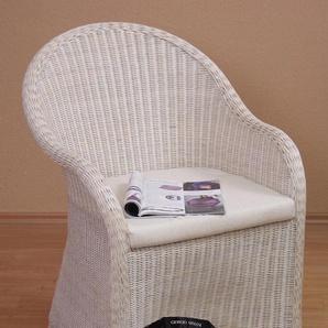 Home Affaire Korbsessel »Lukas«, weiß, H: 47cm, in Handarbeit gefertigt