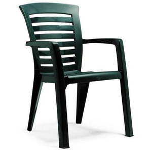 BEST Gartenstuhl »Florida«, (2er Set), Kunststoff, stapelbar, grün