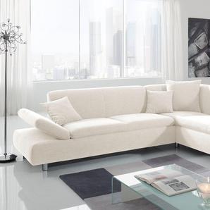 Max Winzer® Eckcouch »Paris«, beige, Ottomane rechts, B/H/T: 272x40x60cm, hoher Sitzkomfort, FSC®-zertifiziert