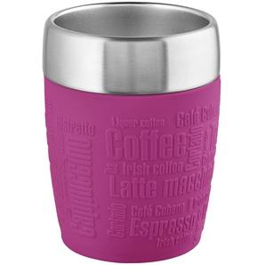 emsa Isolierbecher | rosa/pink | Kunststoff (Polypropylen), Edelstahl, Silikon | 8,7 cm | 11,2 cm | Möbel Kraft