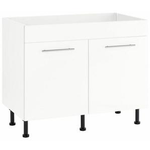 wiho Küchen Spülenschrank »Ela« Breite 100 cm, weiß