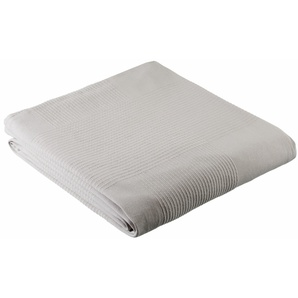 My Home Tagesdecke »Mira«, 250x250 cm, aus 100% Baumwolle, grau
