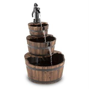 Bodenbrunnen Cascada aus Holz und Metall