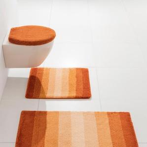 Badgarnitur im Streifen-Design, orange, Gr. ca. 55/65 cm, ohne Ausschnitt, Kleine Wolke