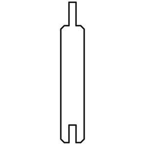 Sichtschutzzaun Gardo Füllprofilbretter Lärche 180x12cm 8 Stück