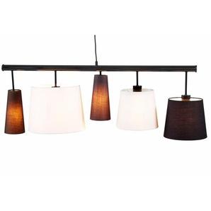 Pendelleuchte mit verschiedenen Leuchtenschirmen, schwarz, Gr. 30/100/30 cm, Kare