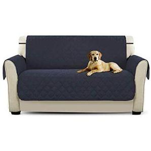 PETCUTE Luxus Gesteppte Stuhlabdeckung Sofabezug Anti-rutsch extra weich alle Größen Weinrot Zweisitzer