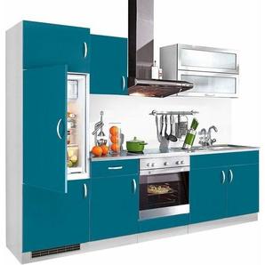 Küchenzeile »Amrum«, Breite 270 cm in vielen verschiedenen Farben, blau