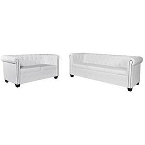 vidaXL Chesterfield Sofa Couch 2-& 3-Sitzer Kunstleder Polstergarnitur Wohnmöbel
