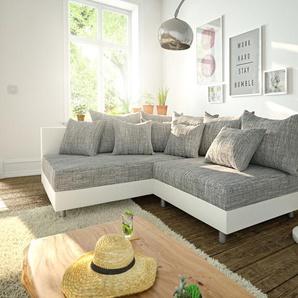 Ecksofa Clovis Weiss Hellgrau Ottomane Links Modulsofa, Design Ecksofas, Couch Loft, Modulsofa, modular