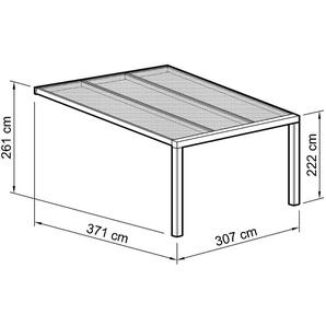 BECKMANN Terrassendach »Exklusiv 7«, BxT: 307x371 cm