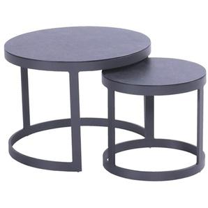 Hartman Biarritz Loungetisch 2tlg Aluminium/HPL Charcoal/Black