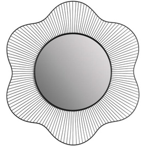 Wandspiegel Blume, D:59cm x T:5cm, schwarz