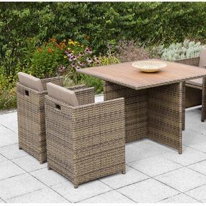 4-Sitzer Gartengarnitur Verona mit Polster