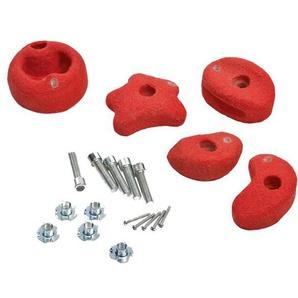 Klettersteine rot 5 Stück Ø 115-130mm