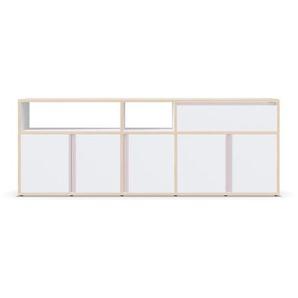Schmaler Schuhschrank - Konfigurierbar - Naturfarbene - Multiplexplatte