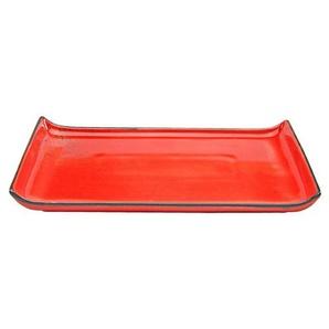 CreaTable Platte ,rot ,Steingut