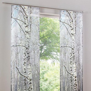 Schiebegardine bedruckt, weiß, Gr. 245/60 cm,  home, Material: Polyester