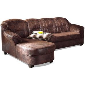 Home Affaire Eck-Sofa »Budapest« mit Bettfunktion, braun