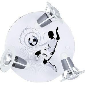 ELOBRA Retrofit Deckenlampe FUßBALL SOCCER Silber/Weiß
