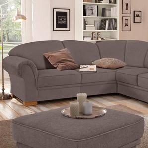Home Affaire Ecksofa »Amrum« mit Bettfunktion, braun, komfortabler Federkern, hoher Sitzkomfort