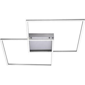 : LED-Deckenleuchte, Nickel, B/H/T 68 6,5 68