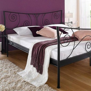 Home affaire Metallbett »Princess«, schwarz