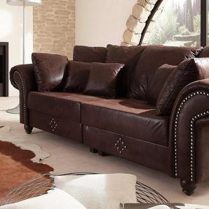 Home Affaire Bigsofa »King George«, braun, B/H: 242x45cm, komfortabler Federkern, FSC®-zertifiziert