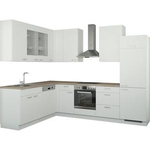 Winkelküche ohne Elektrogeräte  München ¦ weiß
