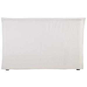 Kopfteilbezug MORPHÉE aus gewaschenem Leinen, 180 cm, weiß
