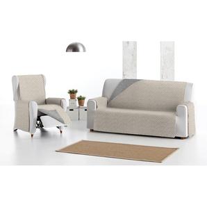Sofa-Decke: 3 / 1x 3-Sitzer-Decke + 2x 1-Sitzer-Decke / Beige
