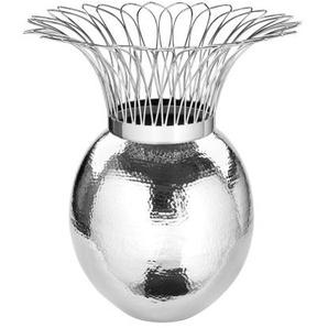 Fink Vase TROPIC 46 cm Metall silberfarbig