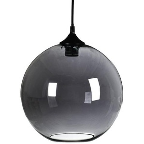 Hängeleuchte Glas, D:30cm x H:30cm, grau