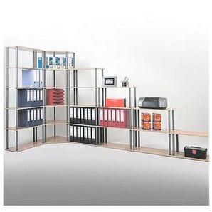 Eckregal »Universell 6 OH« 60 cm breit braun, OTTO Office, 60x180x60 cm