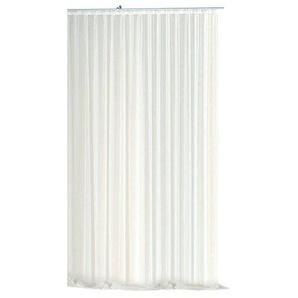 Haus und Deko Voile Dekoschal Gardine Emotion weiß Organza Vorhang Kräuselband klassisch transparent kurz mittel oder lang Store #1309 (290x300)