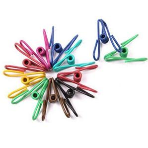 Da.Wa 50PCS bunte Mehrzweck PVC-beschichtet Stahl Wire Clip, Clothes Pins, Utility Clips Haken für Haus Büro