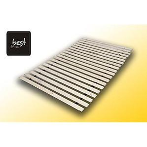 Best For You Rollrost aus 15 oder 20 massiven stabilen Holzlatten Geeignet für alle Matratzen - in viele Größen 60x120 cm - 140x200 cm (140x200-15 Latten)