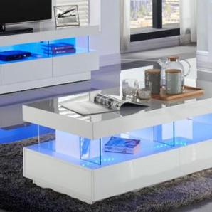 Couchtisch Hochglanz LED Fabio - Weiß