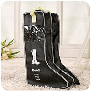 Yiuswoy Tragbare Nichtgewebte Staubdicht Schuhbox Schuhschachtel Stiefel Aufbewahrung Boots Organizer Stiefelbeutel Tasche Schuhaufbewahrung Fuer Stiefel - Schwarz