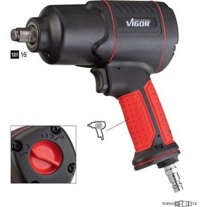VIGOR Druckluft-Schlagschrauber 1200 Nm 12,5 mm (1/2) Hochleistungs-Doppelhammer-Schlagwerk