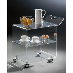 Servierwagen Acrylglas klar