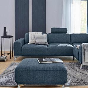 Guido Maria Kretschmer Home&Living Ecksofa »Tea«, mit Kopfstütze, blau, Struktur