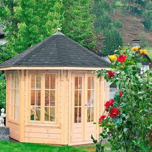 WOLFF FINNHAUS Holzpavillon »Milano 3.0«, BxT: 360x360 cm, mit schwarzen Schindeln