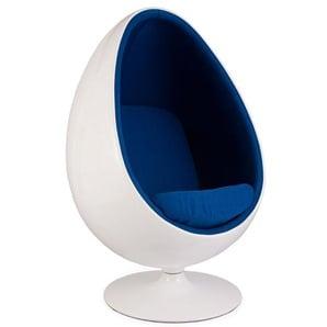 Ovaler Egg Sessel - Blau