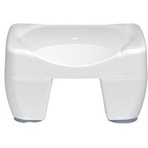 WENKO 7336100 Badewannenhocker Secura, rutschfest, 150 kg Tragkraft, Kunststoff, 40 x 21 x 31 cm, Weiß